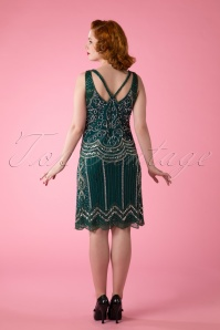 Frock and Frill 20s Flapper Ziegfelt Dress Green 106 40 14003 20150418 0015W