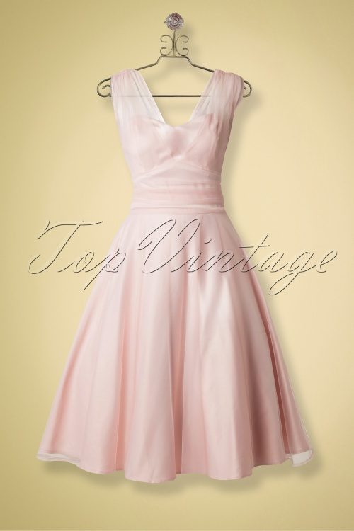 760075dc3e95 Collectif Clothing Sophie Occassion Swing Dress Powder Pink 14770 20141213  0008haakje nieuw