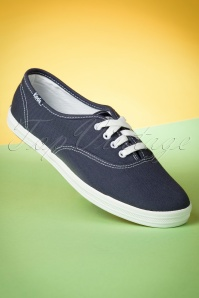 Keds 50s Champion Core Text Sneakers in Navy