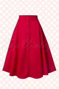 50s Nani Swing Skirt in Red