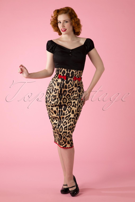 50s Vanya Leopard Print Skirt
