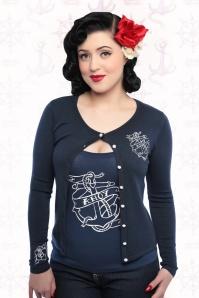 Collectif Clothing Jo Ahoy Anchor Sailor Cardigan 14781 01a