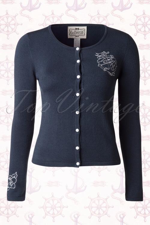Collectif Clothing Jo Ahoy Anchor Sailor Cardigan 14781 20150112 0004a