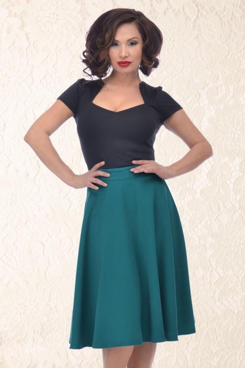 Steady Clothing High Waist Teal Skirt 122 30 15097 05022015 09
