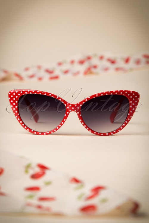 So Retro Red White Polkadot Sunglasses 260 27 16013 05092015 13W