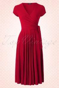 Vintage Chic Slinky Cross Dress Red  102 40 15822 20150609 004NBW