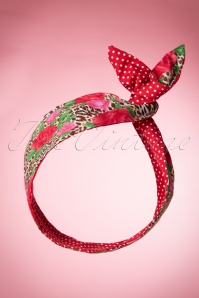50s I Want Roses And Polkadots In My Hair Scarf
