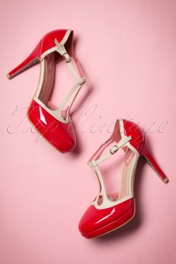 Betty Pumps Années 50 en Rouge