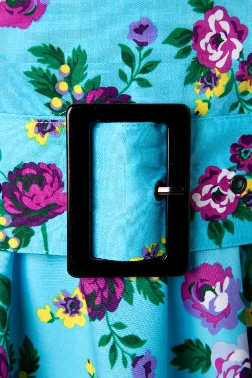 312ad3ef4ba4 Vixen 50s Blue Retro Halter Floral Swing dress 102 39 10974 20150302 0006