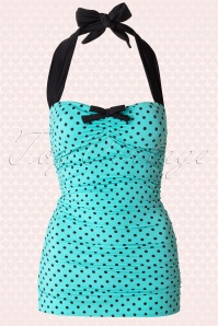 Banned Roguess Full Blue Polkadot Bow Bathingsuit 161 39 15158 20150622 0002W