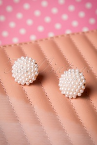 Bouquet of Pearls Earrings Années 50