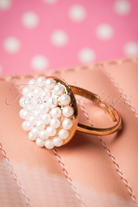 Bouquet of Pearls Ring Années 50