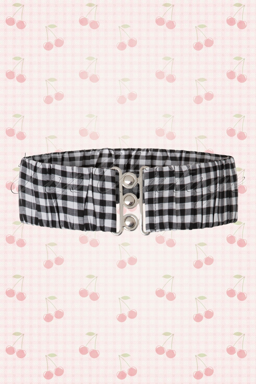 A History of Belts 1920-1960 50s Curvy Retro Gingham Belt in Black and White £7.59 AT vintagedancer.com
