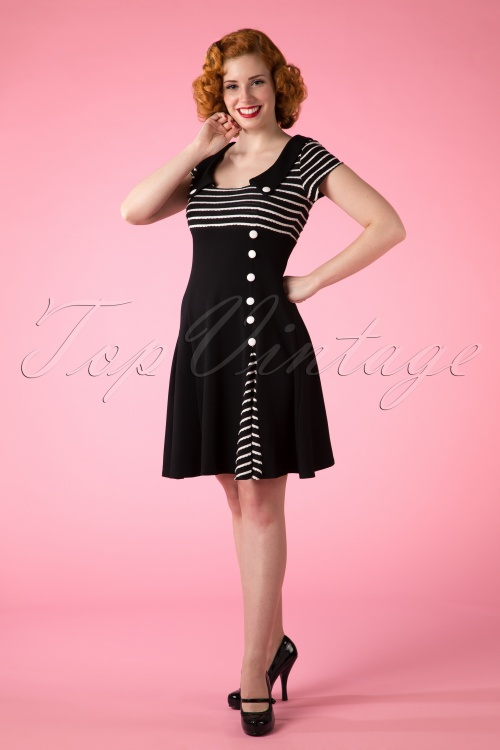 Vixen Black White Striped Dress 107 10 10755 20150418 0012W