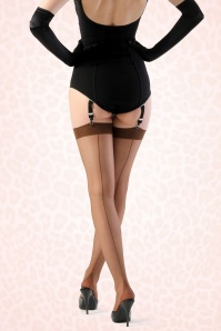 What Katie Did Seamed Coffee Stockings 172 52 15963