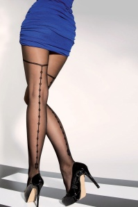 Loana Patterned Tights in Black