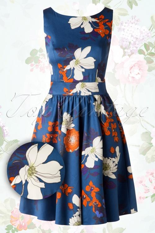 Lady V Japanese Blossom Blue Swing Dress 102 39 16009 20150702 0021W2