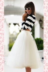 50s Jocelyn Fairytale Skirt in Ivory