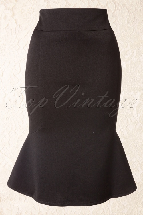 Collectif Clothing Diana Suit Skirt Black 120 10 11310 20150714 003W