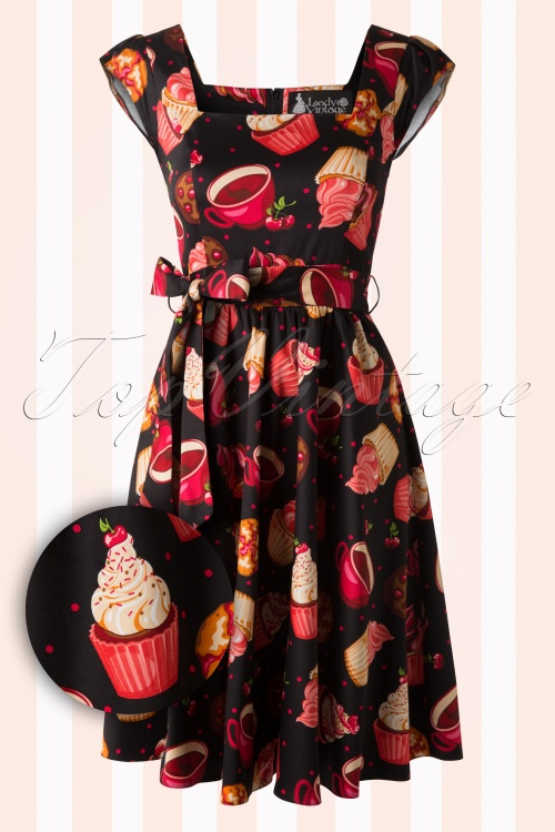 Lady V Black Cupcake Tea Swing Dress 102 14 16144 20150721 0004W2
