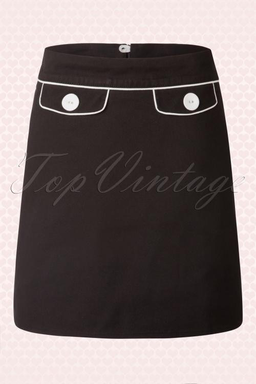 Mademoiselle Yeye Marianne A Skirt Black  123 10 15620 20150722 005Wnieuw