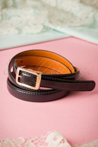 50s Martha Plain Belt in Black