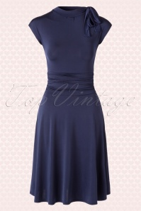 Retrolicious Bridget Navy Blue Bombshell Dress 102 31 15651 20150724 0002W