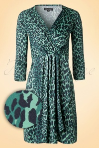 King Louie Bella Dress Sea Green Leopard Print 106 49 15557 20150729 0006W1