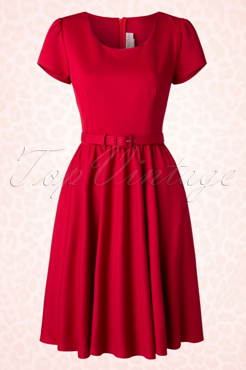 Pinup Couture Katie Semi Swing Dress Red 102 20 16419 20150729 0006W