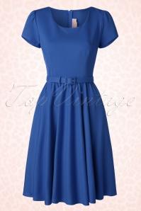 50s Katie Swing Dress in Royal Blue