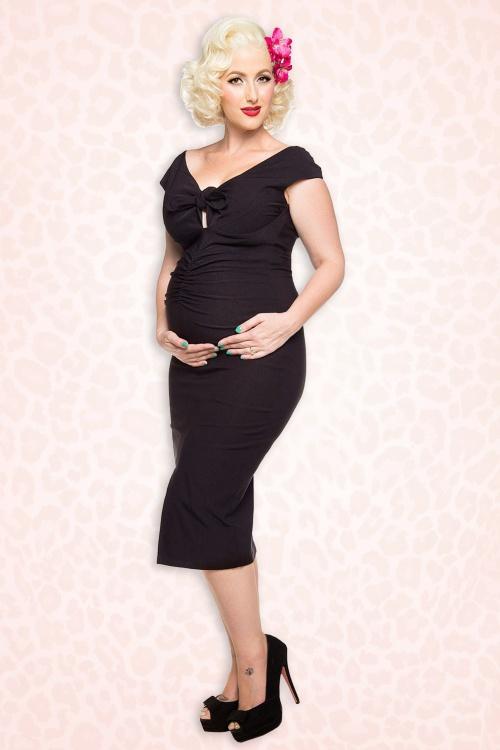 50s Marilyn Niagara Dress in Black