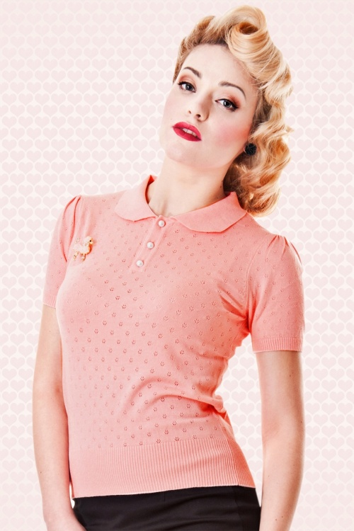 Freddie Knitted Top Blush copyV