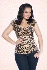 Dolores Top Carmen in Leopard