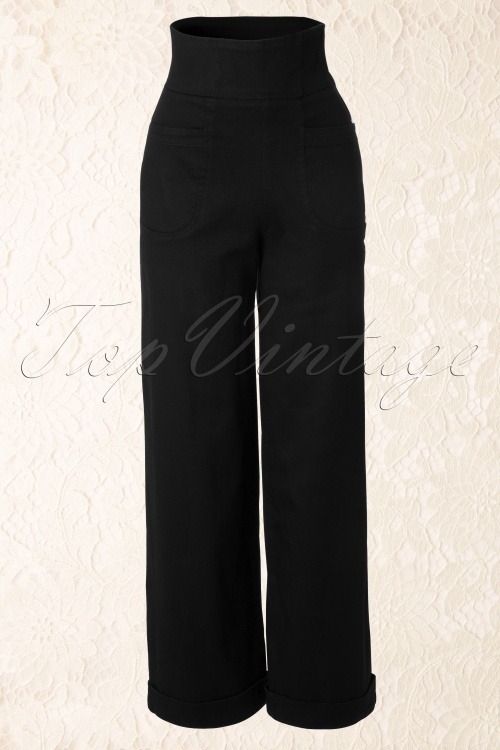 Collectif Clothing 40s Franky Swing trousers navy 55 3563 20130708 0003W