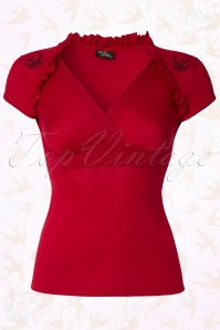 Sparrow Lush Top Red