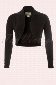 Collectif Clothing Jean knitted Bolero in Black 10359 2a
