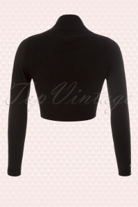 Collectif Clothing Jean knitted Bolero in Black 10359 1a
