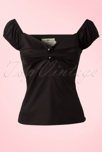 Collectif Clothing Dolores top Carmen black 42 2446 20130529 0001W