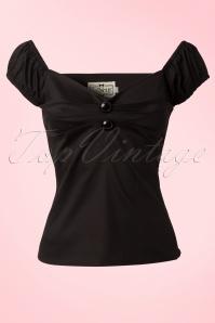 Collectif Clothing Dolores top Carmen black 42 2446 20130529 0001W