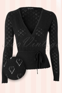King Louie  Wrap Heart Cardigan Black  110 39 12280 20140115 0002W2
