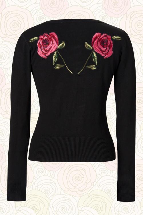 Vixen Fuschia Roses Cardigan 10761 02A