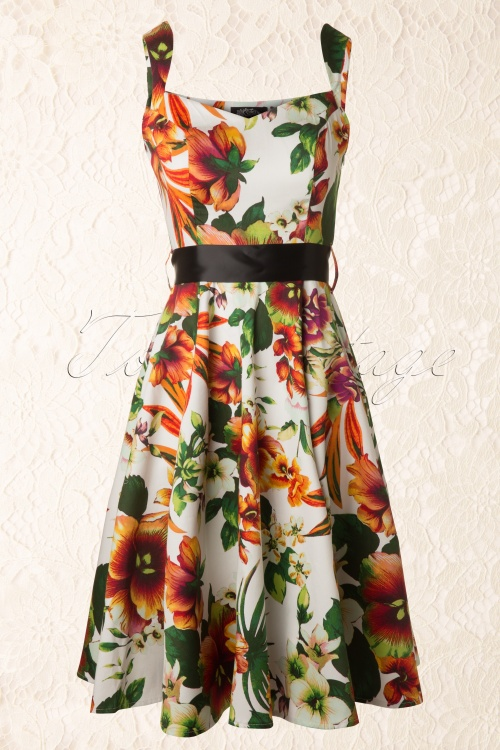Hearts and Roses Summer Floral Swing Dress 102 59 13119 20140404 0008 Kantje