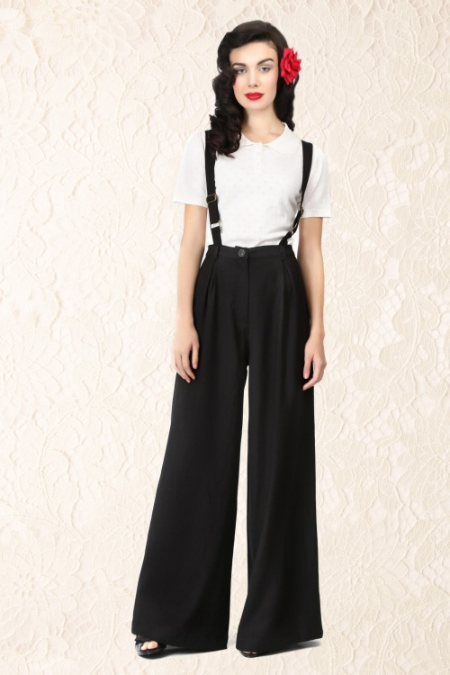 Glenda Swing Trousers BlackFB