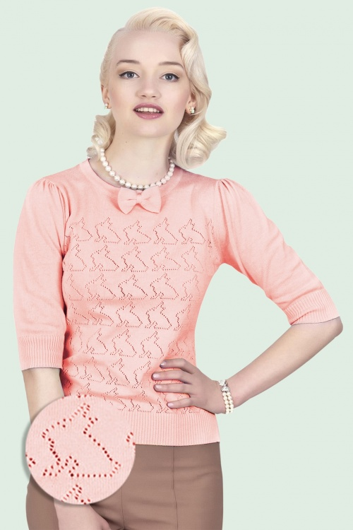 Collectif Clothing 10233 Annie Bunny Top Pink5WB