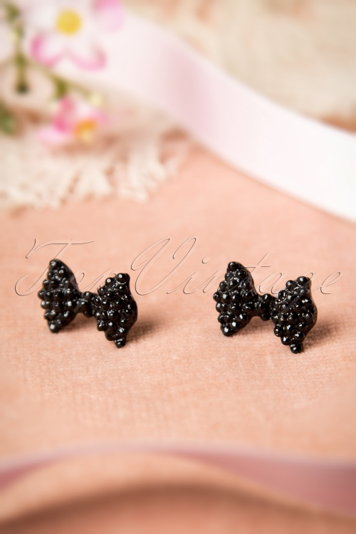 Lola Black Bow Earrings 330 10 16431 08102015 05W