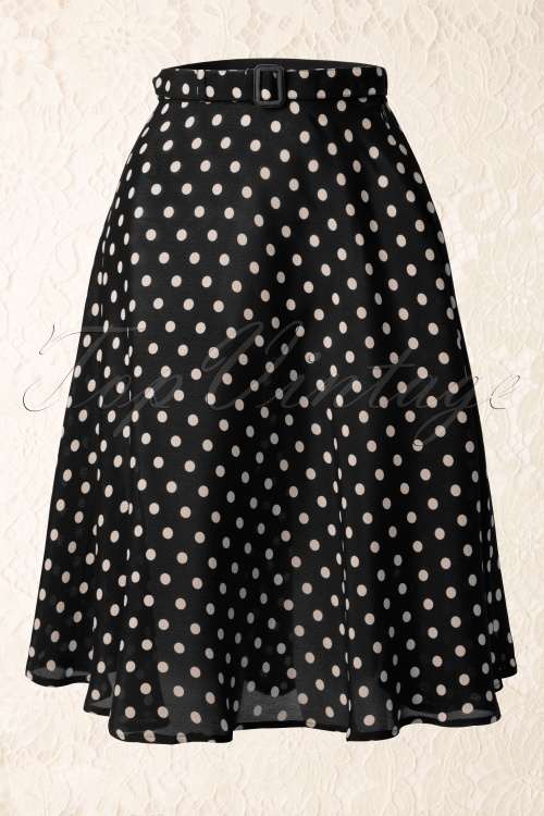 The Seamstress of Bloomsbury Circle skirt black spot 122 20 11858 20131111 0014W