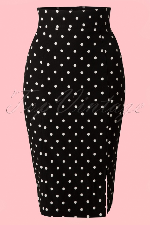 Steady Clothing Pencil skirt black polkadot 120 14 14279 20141029 002VWB
