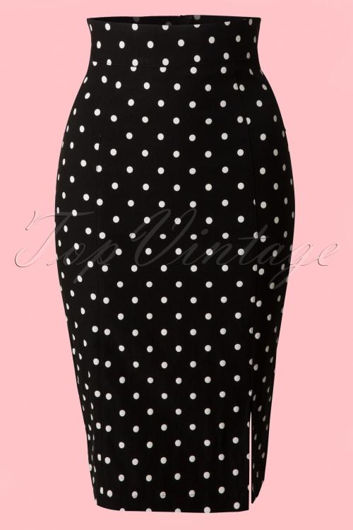 Steady Clothing Pencil skirt black polkadot 120 14 14279 20141029 002VWB