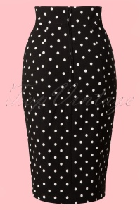 Steady Clothing Pencil skirt black polkadot 120 14 14279 20141029 001WB