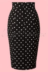 Steady Clothing Pencil skirt black polkadot 120 14 14279 20141029 001WB